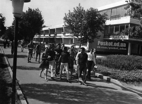 Зарубежные гости в республиканском лагере «Молодая гвардия». г. Одесса, июнь 1964 г. Сайко