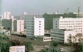 Областная больница, момент строительства. Одесса.