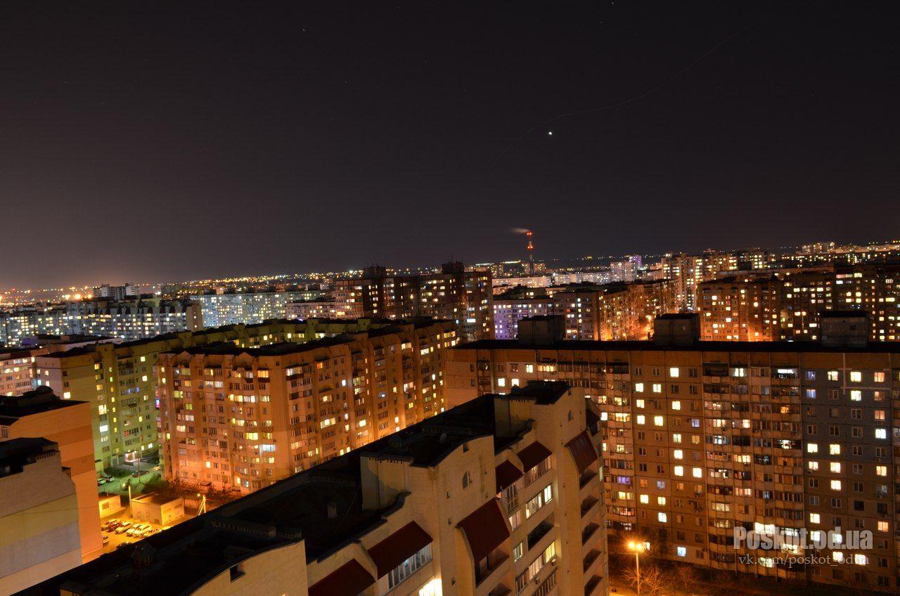 Поселок Котовского ночью