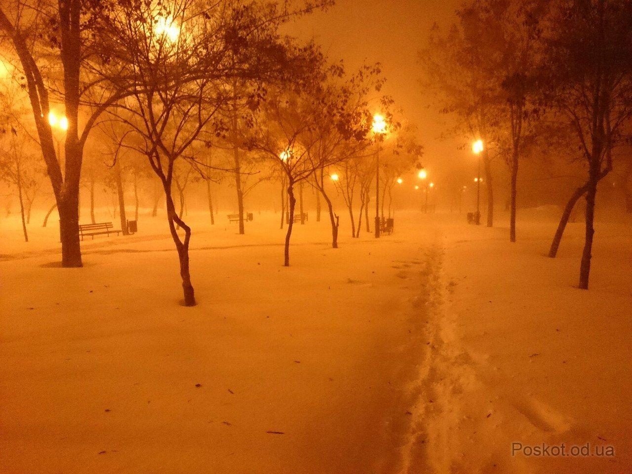 Одесса зимой, посёлок Котовского