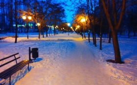 Бульвар Крымский, зима