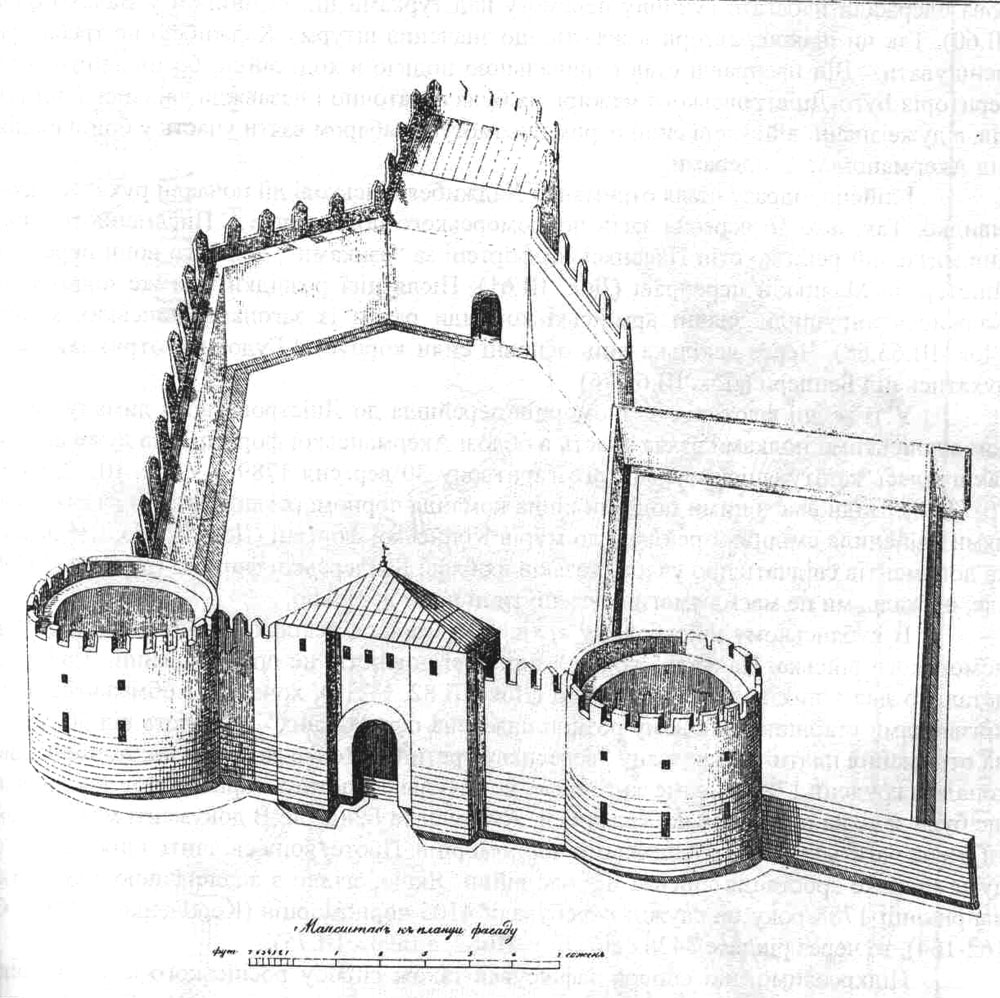Схема крепости Хаджибей
